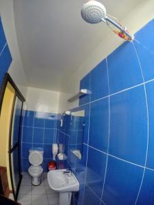 A bathroom at Residencial Uruguay