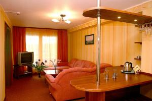 A seating area at Hotel Talsi