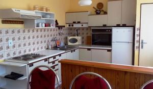 Kuchyň nebo kuchyňský kout v ubytování Vila FILIP