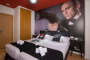 Letto o letti in una camera di Casual del Cine Valencia