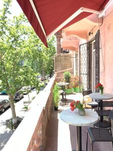 A balcony or terrace at Duck Hostel