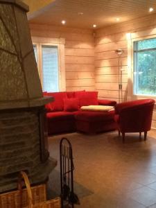 Oleskelutila majoituspaikassa Ylijarvi cottages