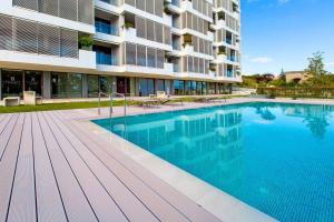 The swimming pool at or near Bel Etage Amora Luxury Seaview Apartment with pool