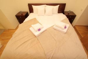 Łóżko lub łóżka w pokoju w obiekcie Apartament Secesyjny