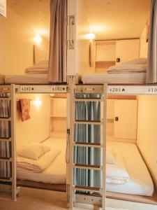 A bunk bed or bunk beds in a room at Samurai Hostel Asakusa