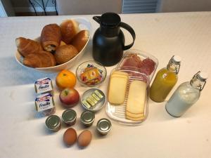 Options de petit-déjeuner proposées aux clients de l'établissement L' Instant Ch' Oizy