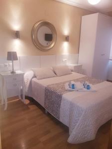 Кровать или кровати в номере Hotel Principe