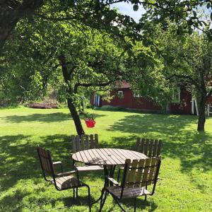 En trädgård utanför Pensionat Lundåkra