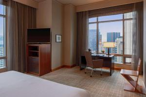 A television and/or entertainment center at Grand Hyatt Seattle