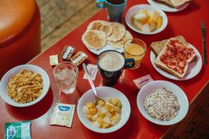 Breakfast options available to guests at Clink78 Hostel