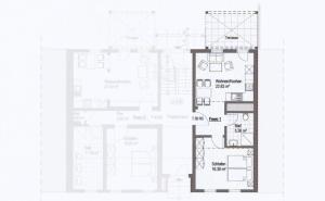 The floor plan of Altstadt Appartements Goslar
