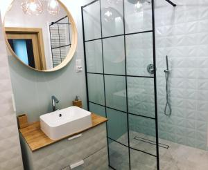 A bathroom at Apartament na Kaszubach