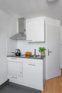 Küche/Küchenzeile in der Unterkunft Swiss Star Aussersihl - contactless self check-in