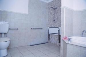 A bathroom at Harrington River Lodge