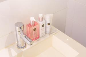 Een badkamer bij Hotel Doppenberg