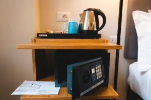 Coffee and tea-making facilities at Eccelso Hotel