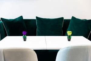 Ein Sitzbereich in der Unterkunft Amadomus Luxury Suites