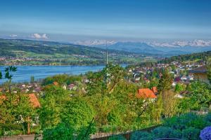 Blick auf Belair Beinwil - B&B aus der Vogelperspektive
