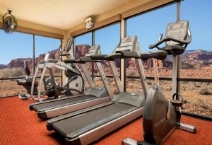 The fitness center and/or fitness facilities at Capitol Reef Resort