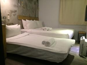 ジャスト インにあるベッド