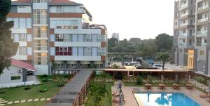A view of the pool at Hotel Bella Riva Kinshasa or nearby