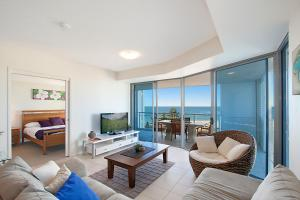 A seating area at Blue C Coolangatta