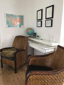 Ein Sitzbereich in der Unterkunft Like Vík Guesthouse