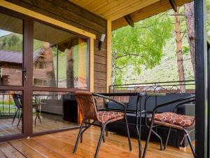 A balcony or terrace at Usadba Zorkinykh