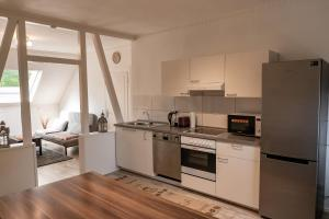 A kitchen or kitchenette at Appartment Rheinaue