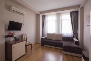 Гостиная зона в Отель Афина