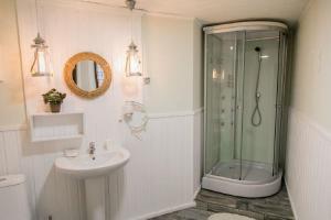 Ванная комната в Отель Верховье