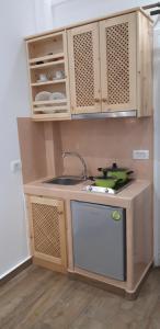 Cuisine ou kitchenette dans l'établissement Villa Koronios