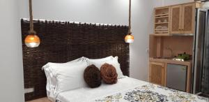 Un ou plusieurs lits dans un hébergement de l'établissement Villa Koronios