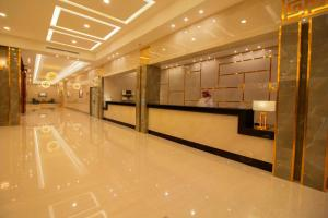 The lobby or reception area at NuKhbat AlMakan Apartment Hotel
