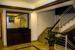 The lobby or reception area at M Hotel Thamel-Kathmandu
