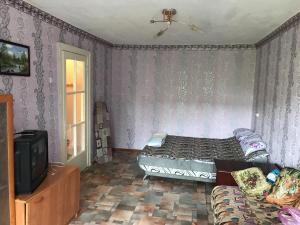 1-квартираにあるベッド