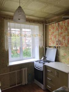 1-квартираにあるキッチンまたは簡易キッチン