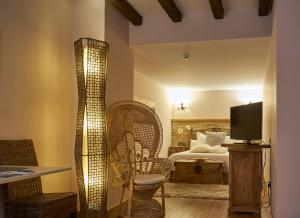 A bed or beds in a room at Casona De Torres
