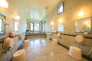 A bathroom at Taishoike Hotel