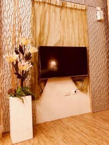 海悅SPA汽車旅館 電視和/或娛樂中心
