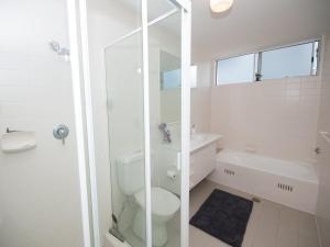 A bathroom at Filtered River Views