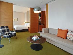 A seating area at Eslite Hotel