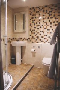 A bathroom at The Throckmorton