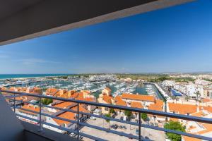 Een balkon of terras bij Luna Olympus