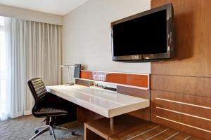 A television and/or entertainment center at Hilton Mississauga/Meadowvale