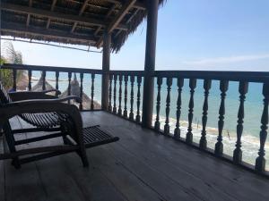 A balcony or terrace at Full Moon Beach Resort