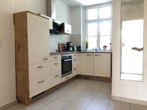 Küche/Küchenzeile in der Unterkunft Villa am Schwanenteich