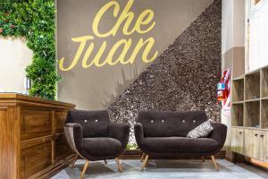 O saguão ou recepção de Che Juan Hostel BA