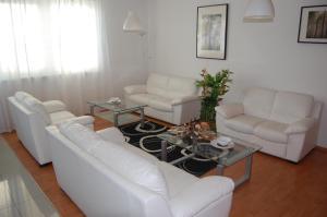 A seating area at Penzion Jarka
