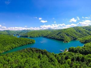 Blick auf B&B Plitvica Lodge aus der Vogelperspektive